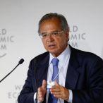 Ministro da Economia, Paulo Guedes, em Davos, no Fórum Econômico Mundial Foto: Agência O Globo