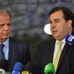 José Mucio Monteiro e Rodrigo Maia em entrevista coletiva após a reunião. Foto: J.Batista/Câmara dos Deputados
