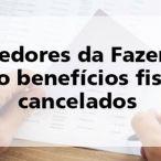SEF/SC suspenderá os benefícios a partir de julho